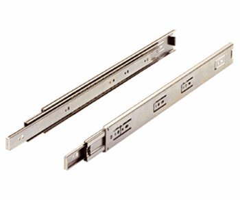 Drawer Slide, Full extension, 24 in., Medium Duty, 100 lb. capacity, Zinc by Hettich