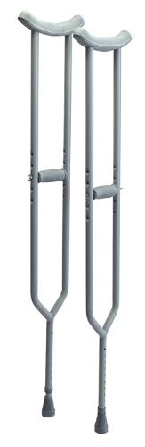 Lumex Imperial Steel Crutches Tall 5 Feet 10 Inches Inches To 6 Feet 6 Inches, Aluminum by Lumex