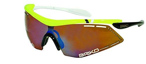 Briko Endure Pro Sunglasses Yellow Racing, One Size - - Briko Sunglass