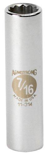 Armstrong 11-332 1-Inch 12 Point 3/8-Inch Drive SAE Deep Socket [並行輸入品] B078XL9XGN