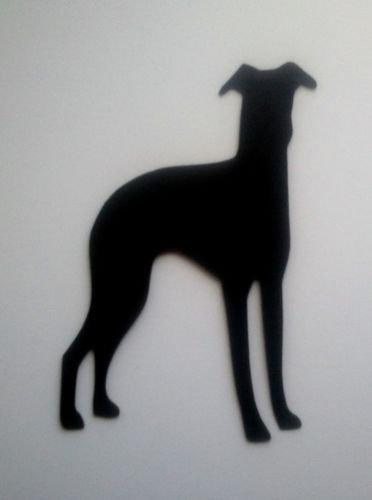 10 Greyhound Dog Silhouette Die Cuts Shapes Black Card RJK Crafts