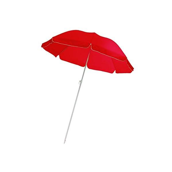 Mediawave Store Ombrellone da Spiaggia e Giardino 322871 ONSHORE in Vari Colori Diametro 165 cm (Rosso) 1 spesavip