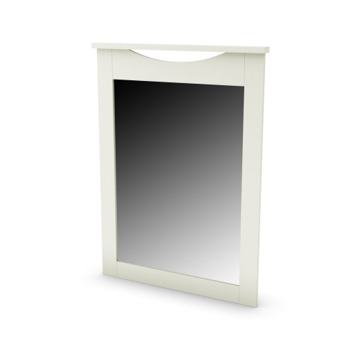 South Shore Grace Collection Mirror, Pure White