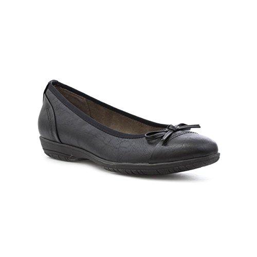 Zwarte Zachte Slip Van Softline Zachte Lijn Dames Op Casual Schoen Zwart