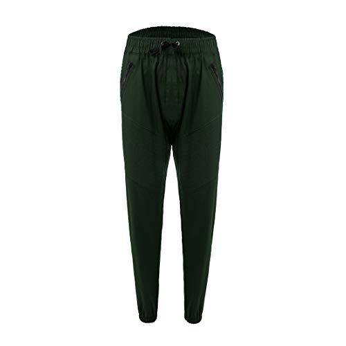 Coton Pantalon Youthny Elastique De Homme Sport Vert Loisir Taille Slim Fit pop Hip En aa1vqH