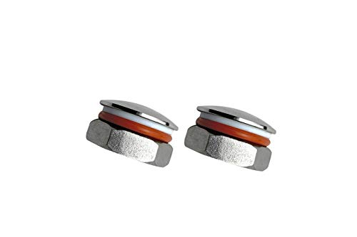 2 pack brew beer Kettle weldless hole Plug fittings compression 304 stainless Steel Homebrew Kettle fitting for 20.8mm hole fit 1/2