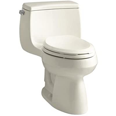 Kohler K-3615 Gabrielle 1.28 GPF One-Piece Elongated Comfort Height Toilet with,