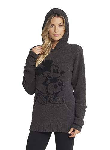 (Barefoot Dreams CozyChic Classic Disney Mickey Mouse Adult Hoodie, Hooded Sweatshirt for Men and)