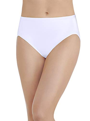 Body Caress Brief - Vanity Fair Women's Body Caress Hi Cut #13137, Star White, 6