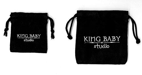 King Baby Bracelet Acier Inoxydable Ronde Autre Noir Unisexe