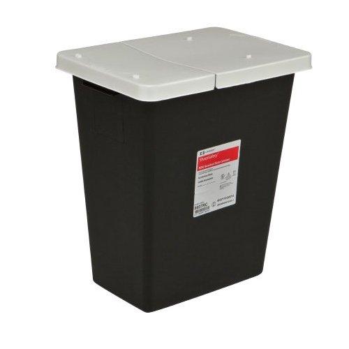 SharpSafety RCRA Hazardous Waste Container Hinged Lid, Black 8 Gallon (1 Container) - BMC-MON 70862800