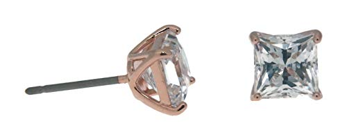(Swarovski Attract Stud Pierced Earrings, White, Rose Gold Plating)