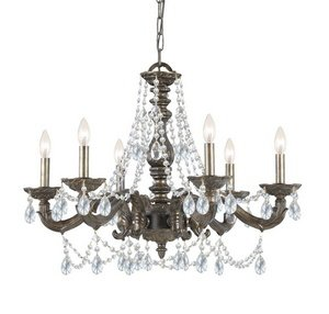 Cheap Crystorama 5026-VB-CL-MWP Traditional Six Light Chandelier from Paris Market collection in Bronze/Darkfinish,