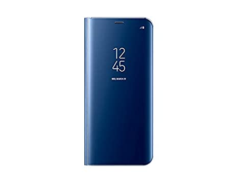 low priced d303e 34e33 Genuine Samsung Clear View Standing Cover Flip Case for Samsung Galaxy  S8+/S8 Plus (Blue)
