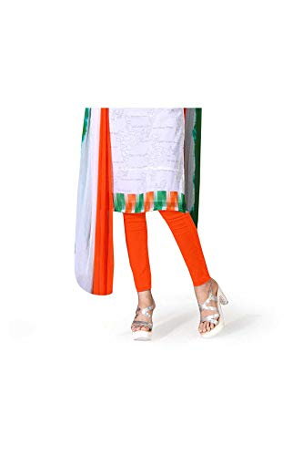 Uniform Sarees Corp Women's Poly Georgette Tiranga Independence Day Salwar Kameez Unstitched Dress Material (Tricolor)