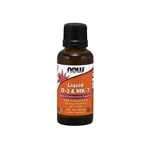 Now Liquid D-3 & MK-7, 1-Ounce