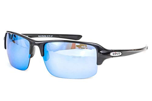 Revo Re 4041x Abyss Polarized Sport Sunglasses Wrap, Black, 66 mm