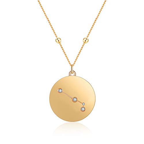 Aries Zodiac Pendant - LILIE&WHITE Gold Aries Pendant Neckalce Zodiac Necklace Aries Constellation Jewelry for Women Gift