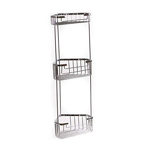 Gedy Gedy 2484 Wire Corner Triple Shower Basket, Chrome