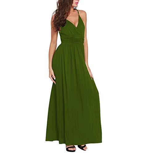 À Col D'été Pour V Sexy Femmes Banquet Sans Xl Red Manches Longue Size De Igspfbjn En Green Robe Soirée color 1Ywxqp4cAS