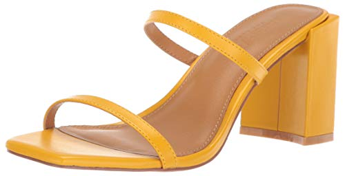 Jaggar Women's Square Block Heel Strappy Slide Sandal Shoe Heeled, Cornsilk, 36 Regular EU (6 US) ()