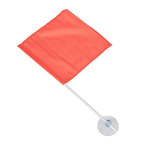 Seachoice 78349 Nylon Skier Down Flag with Suction Cup - 24 Inch Pole - Conforms to State Laws in AZ, CA, CO, ID, MO, NE, NM, OR, TX, UT and WA