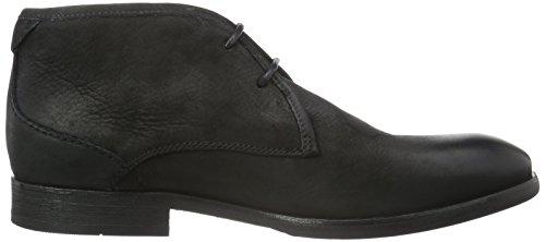 Hudson London Herren Lydon Nubuck Chukka Boots Schwarz (Black)