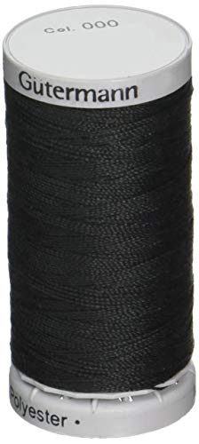 Guetermann Original Sewing Thread Extra Strong 110 yards/100 meters, Color 000 - 000 Spool 1