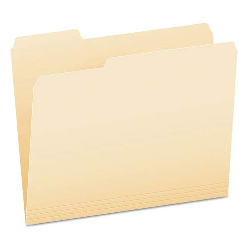 End File Folders, 1/3 Cut Top Tab, Letter, Manila, 100/Box, Sold as 100 Each ()