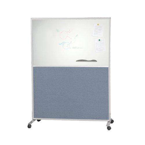Balt 6'H x 3'W Office Cubicle Wall Divider Parition Standard Modular Panel Markerboard Blue Fabric