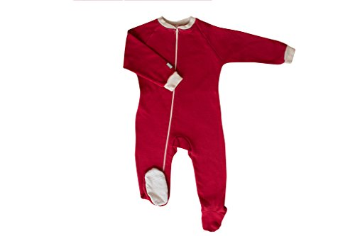 CastleWare Baby Fleece Footie Pajama (4, Red) by CastleWare Baby