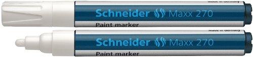 Schneider Schreibgeräte Lackmarker Maxx 270, 1-3 mm, weiss