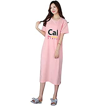 Heypro Long Nightgown with Pocket for Women XXL Pink