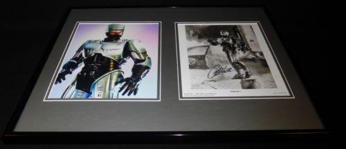 (Peter Weller Signed Framed 16x20 Photo Set Robocop)