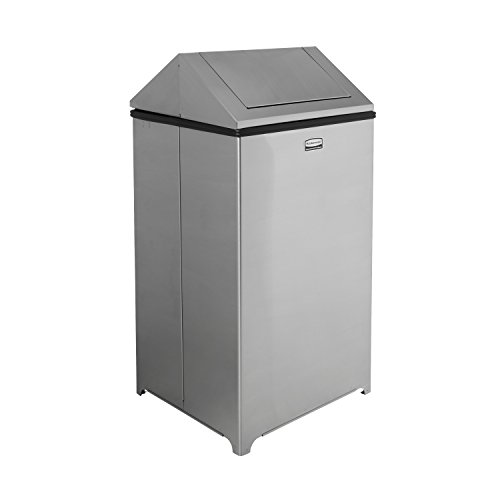 Rubbermaid Commercial WasteMaster Trash Can, 40 Gallon, Stainless Steel, FGT1940SSPL -