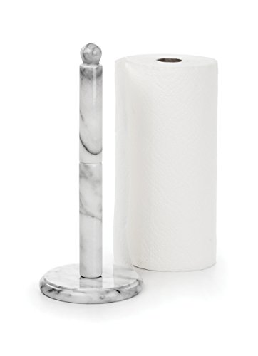 RSVP White Marble Paper Towel Holder