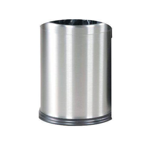 Rubbermaid Commercial Products WHB14SS Round Steel Open Top