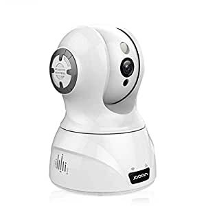 JOOAN 3MP WiFi Home Security Camera with Night Vision Two-Way Audio& Face &Sound Detection & Smart Tracking Work with Alexa 1536P Indoor Wireless Surveillance Cameras for Baby Pet Nanny Monitor
