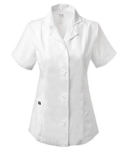 Dagacci Scrubs Medical Uniform Women's Chest Comfortable Short Sleeve Lab Coat (Womens Short Sleeve Uniform)