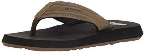 Quiksilver Boys' Monkey Wrench Youth Sandal, TAN - Solid, 5(37) M US Big Kid