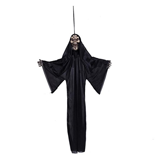 [Susenstone Halloween Prop Hanging Grim Reaper Scary Decoration Outdoor Decor] (Hanging Halloween Props)