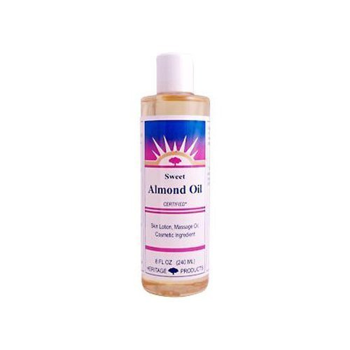 HERITAGE STORE SWEET ALMOND OIL, 8 FZ by Heritage Products