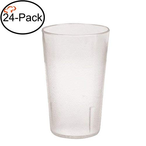 (Tiger Chef 9.5-Ounce, 24-Pack Clear Stackable Shatter-Resistant Restaurant Beverage Cup Plastic Tumbler Set)