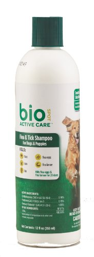 BioSpot Active Care Flea & Tick Shampoo for Dogs and Puppies, 12 oz. (Flea Shampoo Lice)