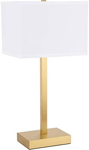 1-Light Table Lamp in Brushed Brass and Blue