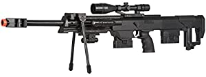 UKARMS 50 Cal Sniper Spring Airsoft Rifle & Pistol Combo Gun Set FPS 260