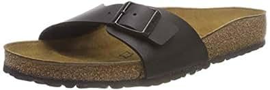 Birkenstock BIRK-40301 Madrid Leather Sandals, Black, 41