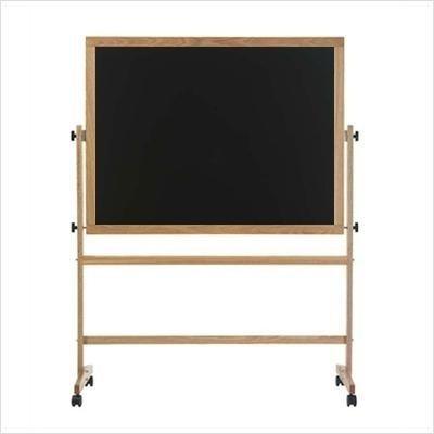 Marsh Industries Rw-45B-K8K8 42X60 Oak Wood Trim Porcelain Chalkboard Both Sides Reversible - (60 Oak Wood Trim)