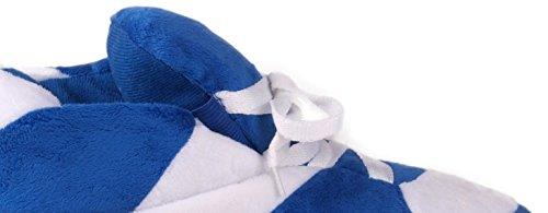 Happy Feet Standaard Sneaker Slippers Voor Heren En Dames Blauw En Wit