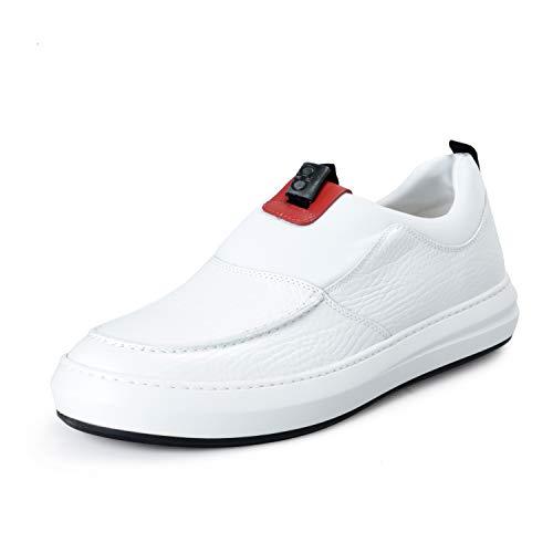 (SALVATORE FERRAGAMO Mens Filadelfo White Leather Loafers Slip On Shoes Sz US 11EEE IT 44EEE)